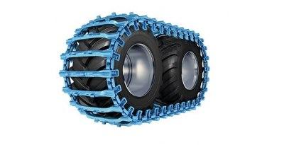 Esteiras para pneus florestais